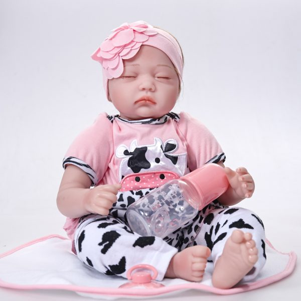 "Bambola Reborn ""Adelaide"" Baby Mucca"